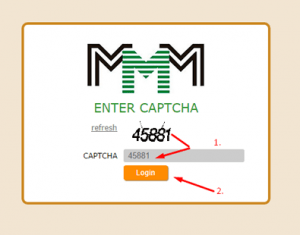 MMM Nigeria Login Enter Captcha